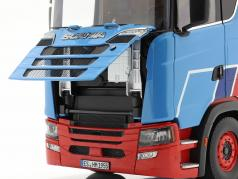 Set Scania V8 730S Con Lohr Transportador de coches Mosolf 1:18 NZG