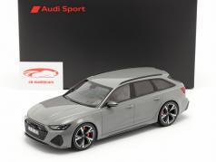 Audi RS 6 Avant (C8) Bouwjaar 2020 nardo grijs 1:18 Minichamps