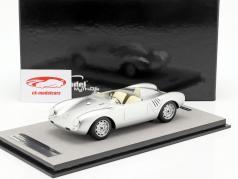 Porsche 550A RS Press version 1957 silver metallic 1:18 Tecnomodel