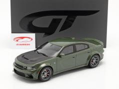 Dodge Charger SRT Hellcat Widebody Bouwjaar 2020 groen metalen 1:18 GT-Spirit