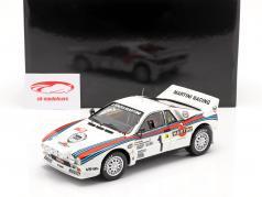 Lancia 037 Rally #1 vencedora Rallye Monte Carlo 1983 Röhrl, Geistdörfer 1:18 Kyosho