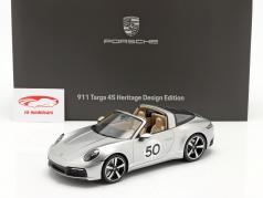 Porsche 911 (992) Targa 4S Heritage Edition #50 2020 GT zilver 1:18 Spark