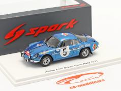 Alpine A110 #5 9e Rallye Monte Carlo 1971 Vinatier, Gelin 1:43 Spark