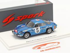 Alpine A110 #5 Noveno Rallye Monte Carlo 1971 Vinatier, Gelin 1:43 Spark