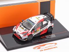 Toyota Yaris WRC #8 2do Rallye Catalunya Campeón mundial 2019 Tänak, Järveoja 1:43 Ixo
