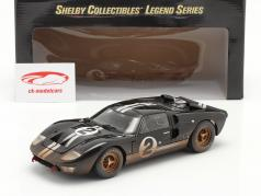 Ford GT40 MK II #2 Winnaar 24h LeMans 1966 Dirty Version 1:18 ShelbyCollectibles