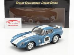 Shelby Cobra Daytona Coupe #98 Année 1965 bleu / blanc 1:18 ShelbyCollectibles