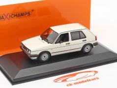 Volkswagen VW Golf II GTi 4 deuren Bouwjaar 1985 Wit 1:43 Minichamps