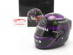L. Hamilton #44 Mercedes-AMG Petronas 式 1 世界チャンピオン 2020 ヘルメット 1:2 Bell