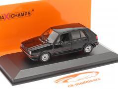 Volkswagen VW Golf II GTi 4 portas Ano de construção 1985 Preto 1:43 Minichamps