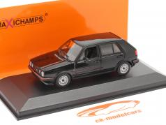 Volkswagen VW Golf II GTi 4 puertas Año de construcción 1985 negro 1:43 Minichamps