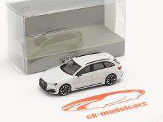 Audi RS4 Avant Ano de construção 2018 geleira Branco 1:87 Minichamps