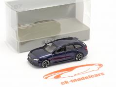 Audi RS4 Avant 建设年份 2018 navarra 蓝色 1:87 Minichamps