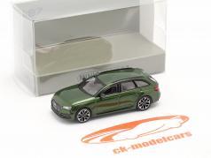 Audi RS4 Avant Ano de construção 2018 sonoma verde 1:87 Minichamps