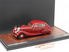 Bentley 4,5 litre Gurney-Nutting Airflow Saloon 1936 red 1:43 Matrix