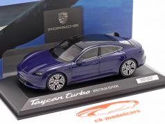 Porsche Taycan Turbo Spectrum Edition 2020 龙胆 蓝色 金属的 1:43 Minichamps