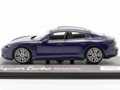 Porsche Taycan Turbo Spectrum Edition 2020 りんどう 青い メタリック 1:43 Minichamps
