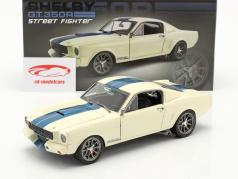 Ford Mustang Shelby GT 350R Street Fighter 1965 Wit / blauw 1:18 GMP