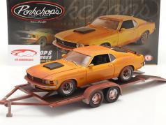 2-Car Set Ford Mustang Boss 429 Baujahr 1970 Com Reboque 1:18 GMP