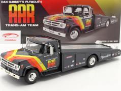 Dodge D300 Ramp Truck 1970 AAR Trans Am Team blauw 1:18 GMP