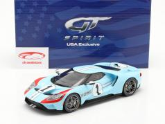 Ford GT Heritage Edition 2020 #1 gulf blå / orange 1:18 GT-Spirit