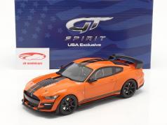 Ford Mustang Shelby GT500 Ano de construção 2020 twister laranja / Preto 1:18 GT-Spirit