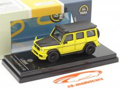 Mercedes-Benz AMG C63 Liberty Walk 2018 amarelo / Preto 1:64 Paragon Models
