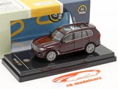 BMW X7 (G07) LHD year 2019 ametrine red metallic 1:64 Paragon Models