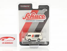 Volkswagen VW T3 furgão Audi Sport Branco 1:64 Tarmac Works / Schuco