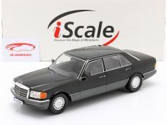 Mercedes-Benz 560 SEL Classe S. (W126) Anno di costruzione 1985 nero / Grigio 1:18 iScale
