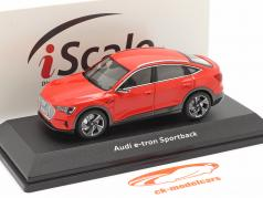 Audi e-tron Sportback year 2020 catalunya red 1:43 iScale