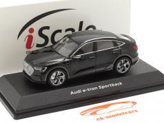 Audi e-tron Sportback Byggeår 2020 sort 1:43 iScale