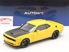 Dodge Challenger SRT Hellcat Widebody 建設年 2018 黄 / 黒 1:18 AUTOart