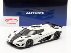 Koenigsegg Agera RS year 2015 arctic white / carbon 1:18 AUTOart