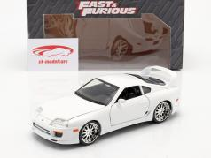 Brian´s Toyota Supra から インクルード フィルム Fast and Furious 7 2015 ホワイト 1:24 Jada Toys