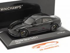 Porsche Taycan Turbo S year 2020 black 1:43 Minichamps