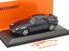 Porsche 928 GTS Ano de construção 1991 azul verde metálico 1:43 Minichamps