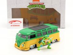 Volkswagen VW Bus TV serier Teenage Mutant Ninja Turtles Med figur 1:24 Jada Toys