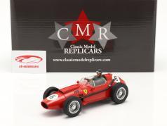 Set: Ferrari Dino 246 #6 Campeão mundial F1 1958 Com motorista figura 1:18 CMR