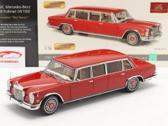 Mercedes-Benz 600 Pullmann (W100) limousine Année de construction 1972 rouge baron 1:18 CMC