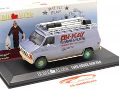 Dodge Ram Van 1986 Film Home Alone (1990) sølvblå / grøn 1:43 Greenlight