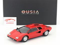 Lamborghini Countach LP400 jaar 1974-1978 rood 1:18 Kyosho / 2e keuze