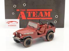 Jeep CJ-7 1981 Animal Preserve séries télévisées le A-Team (1983-87) rouge 1:18 Greenlight