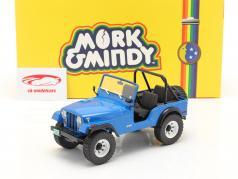 Jeep CJ-5 1972 电视剧 Mork & Mindy (1978-82) 蓝色 1:18 Greenlight