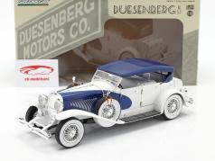 Duesenberg II SJ Branco / azul 1:18 Greenlight
