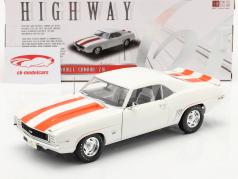 Chevrolet Camaro Z10 Pace Car Coupe 1969 Blanco / naranja 1:18 Highway61