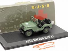 Jeep Willys M38 A1 1952 电视剧 M*A*S*H* (1972-83) 橄榄 1:43 Greenlight