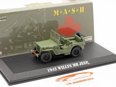 Jeep Willys MB 1942 televisão Series M*A*S*H* (1972-83) Oliva 1:43 Greenlight