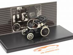 Lohner Porsche Nr. 27 Open Top Bouwjaar 1900 zwart / Wit 1:43 Fahr(T)raum