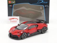 Bugatti Divo Bouwjaar 2018 rood / zwart 1:18 Bburago
